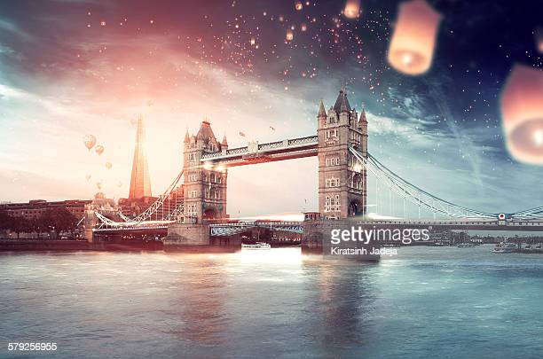 London in a celebratory and inviting mood