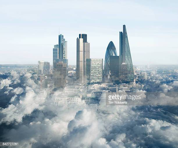 London in the clouds.