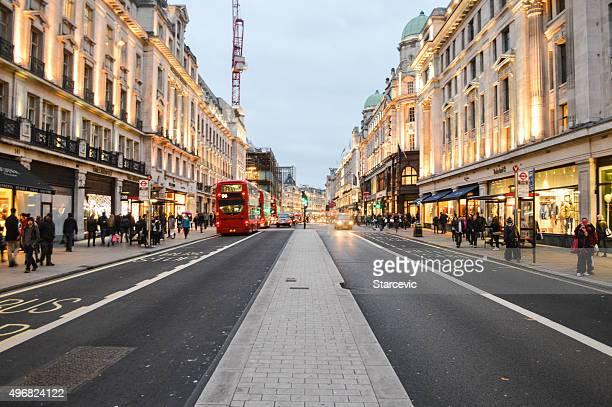 London in the evening, Regent Street