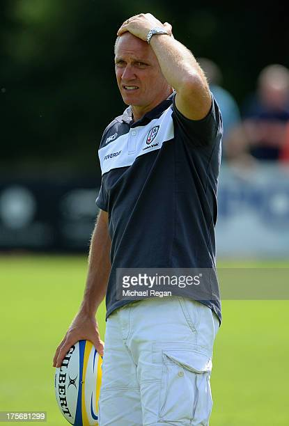London Irish head coach Brian Smith looks on during the London Irish training session on August 6 2013 in Sunbury England