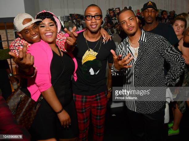 London Jae Akbar V Cortez Bryant and TI attend the Dime Trap Album release event at The Trap Museum on October 4 2018 in Atlanta Georgia