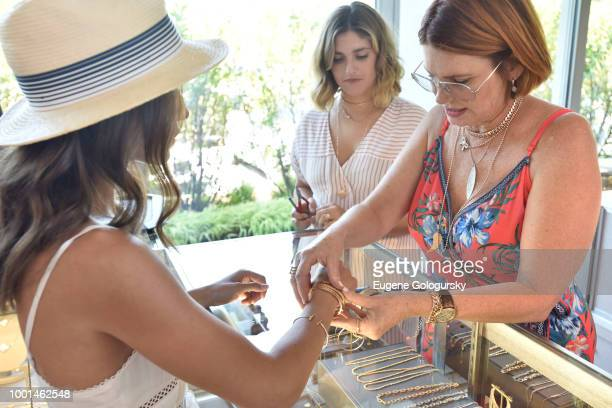 London Jewelers display at the Hamptons Magazine London Jewelers Luxury Shopping Afternoon at Topping Rose House on July 18 2018 in Bridgehampton New...