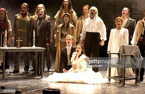 London Jon Lee As Ômarius' With His Co Star Lydia Griffiths Joanna Ampil And Jeff Leyton S Club's Jon Lee Joins Les Miserables Musical At The Palce...