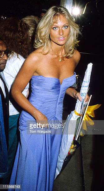 London June 16th 1983 Miss World Mary Stavin at premiere of James Bond film Octopussy
