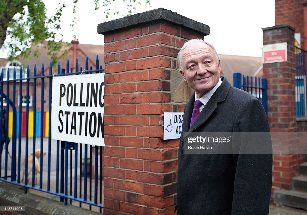 Labour Candidate Ken Livingstone Casts His Vote In The London Mayoral Elections