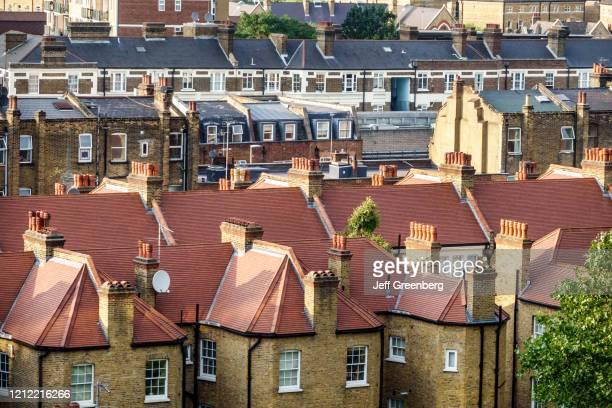 London, Lambeth South Bank, terraced row houses.