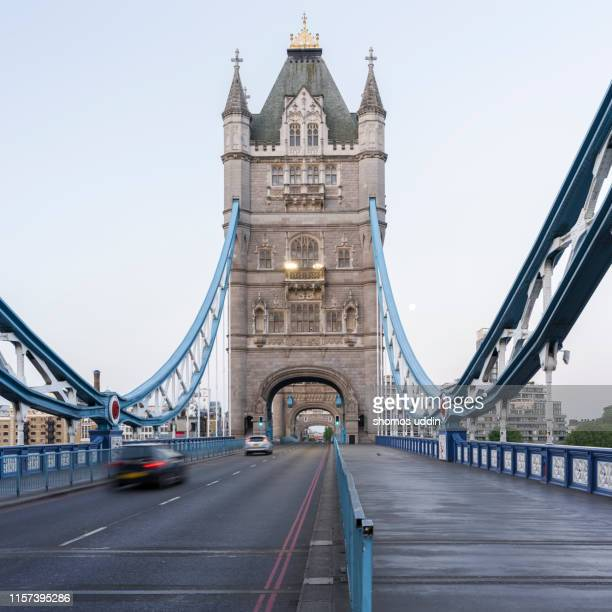 london landmark and city road at twilight - famous place stock pictures, royalty-free photos & images