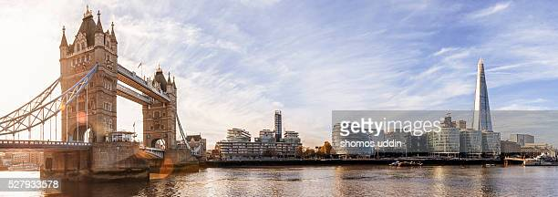 London landmark at sunrise - panoramic view