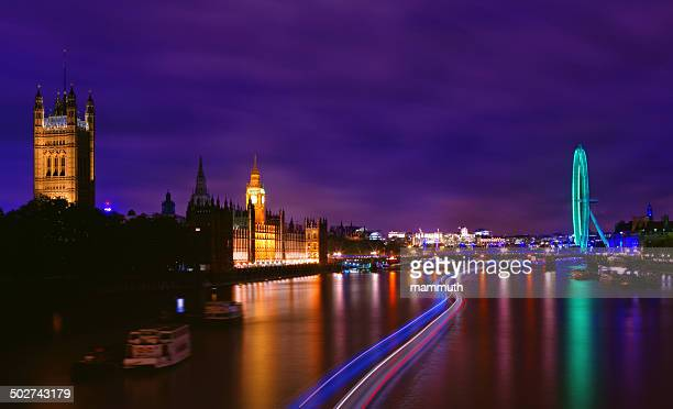 London landmarks in the night