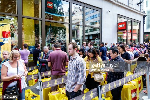 London Leicester Square Lego Store line for instore event