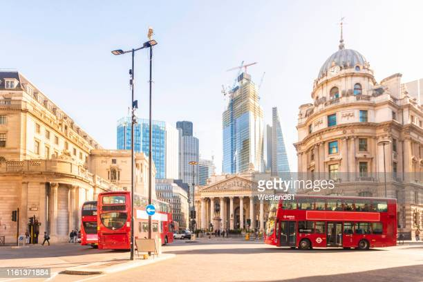 uk, london, lombard street, bank station, bank of england, financial district in a sunny day - bank of england stock pictures, royalty-free photos & images