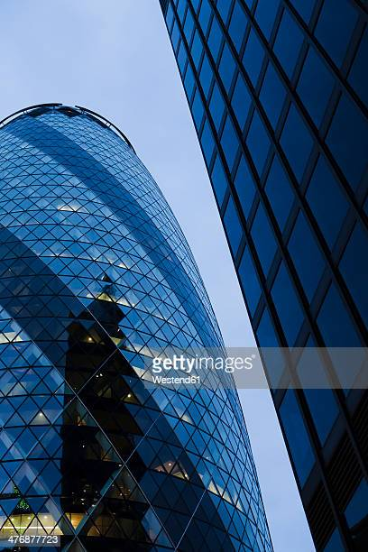 UK, London, London, 30 St Mary Axe, view to The Gherkin