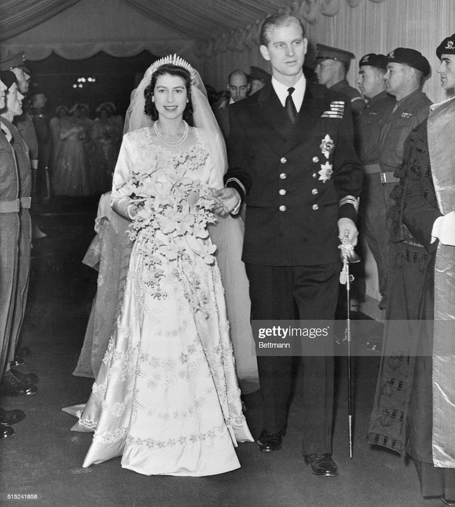 Princess Elizabeth and Prince Philip Just Married : ニュース写真