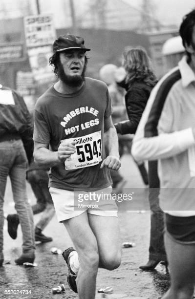 London Marathon 1981, Sponsored by Gillette, Sunday 29th March 1981, amberlee Hot Legs.