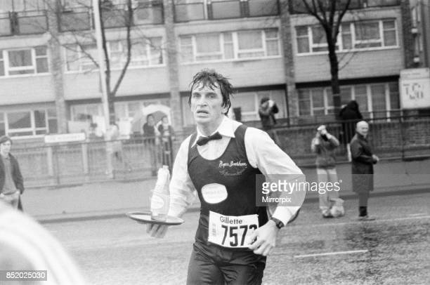 London Marathon 1981 Sponsored by Gillette Sunday 29th March 1981 Fastest waiter Roger Bourban