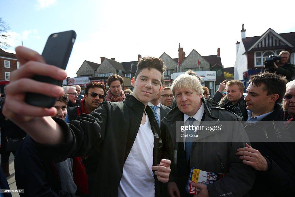 Boris Johnson Launches The Conservative Party London Election Campaign : News Photo