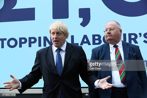 London Mayor and Conservative party candidate for Uxbridge and South Ruislip Boris Johnson and Secretary of State for Communities and Local...