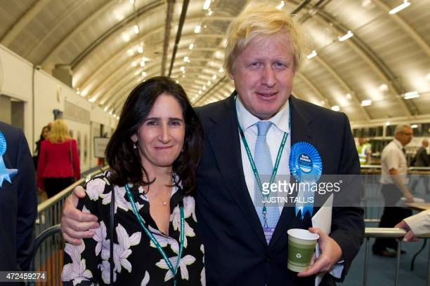 London Mayor and Conservative Party parliamentary candidate for Uxbridge and Ruislip South Boris Johnson and his wife Marina Wheeler pose for a...