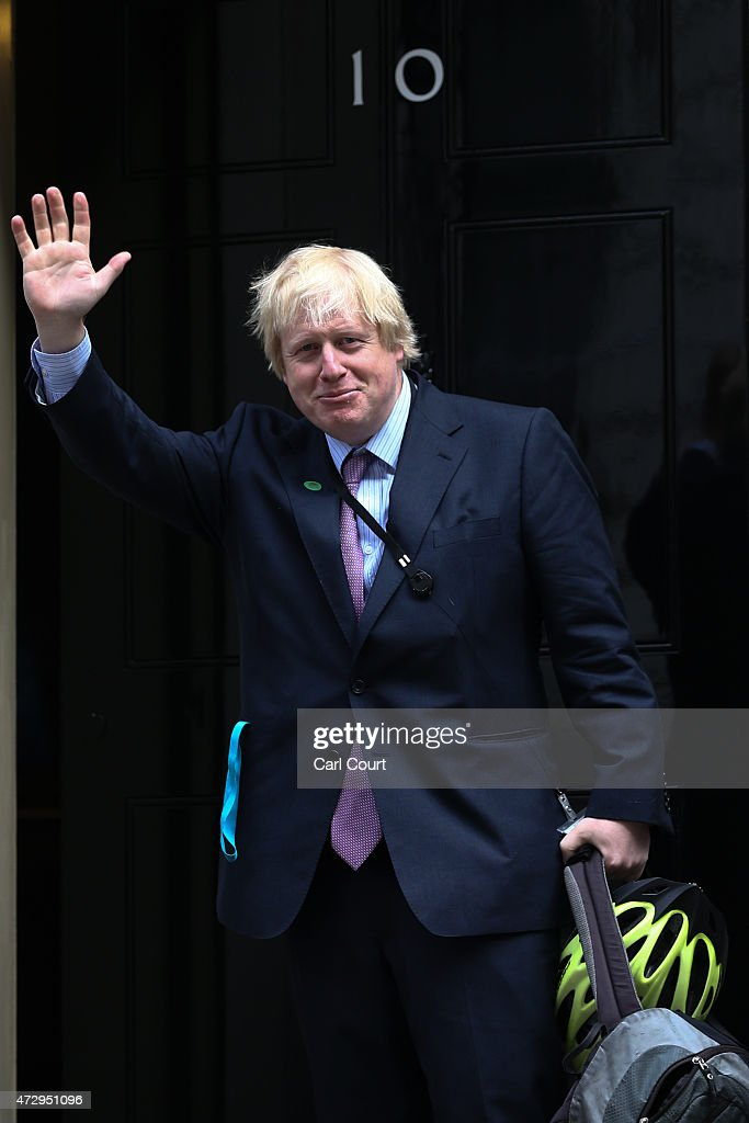 London Mayor and MP for Uxbridge and South Ruislip, Boris Johnson, arrives at Downing Street on May 11, 2015 in London, England. Prime Minister David Cameron continued to announce his new cabinet with many ministers keeping their old positions.