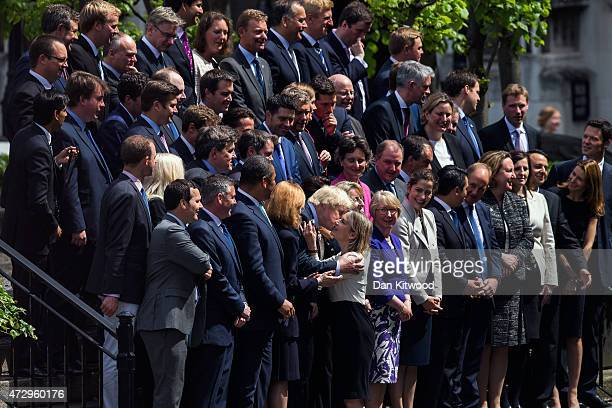 London Mayor and MP for Uxbridge and South Ruislip, Boris Johnson, is greeeted ahead of a picture with British Prime Minister David Cameron and his...