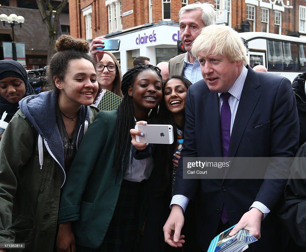 Boris Johnson Rallies Voters In Enfield : News Photo