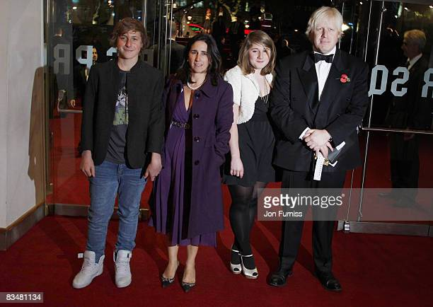 London Mayor Boris Johnson and his family attend the world premiere of 'Quantum of Solace' at Odeon Leicester Square on October 29, 2008 in London,...