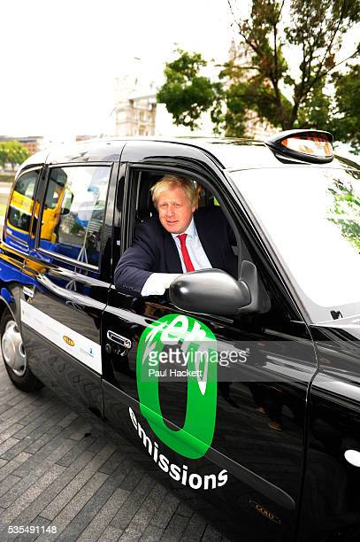 London Mayor Boris Johnson launches the new generation zero emissions London taxi powered by an Intelligent Energy hydrogen fuel cell system in...