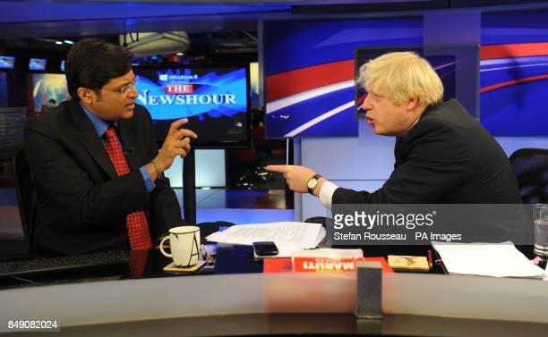 London mayor Boris Johnson talks to India's equivalent of David Letterman Arnab Goswami Goswami one of India's most prominent chat show hosts as he...