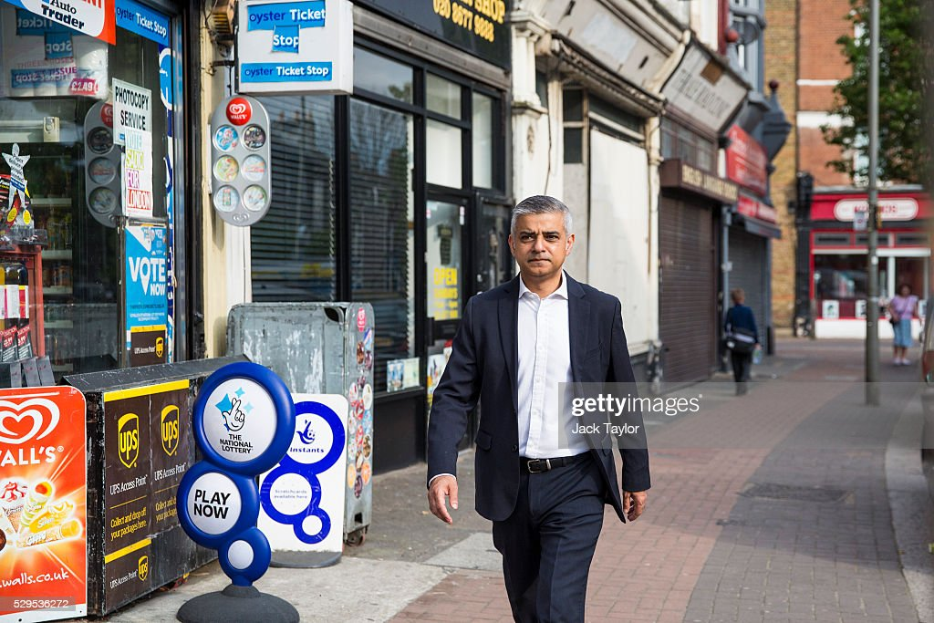 Newly-elected London Mayor Leaves Home For First Day At City Hall : News Photo