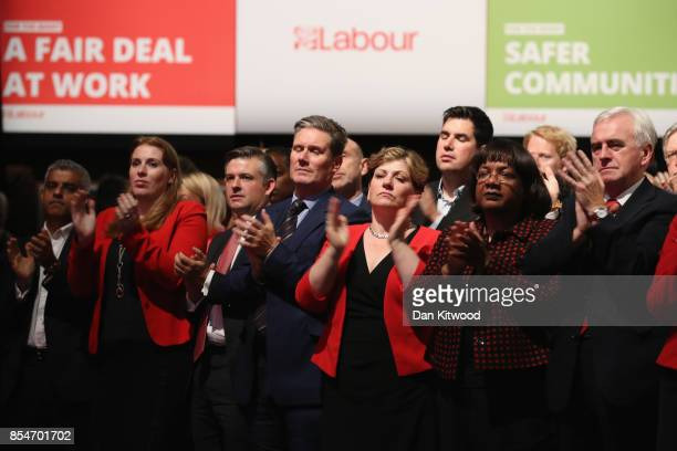 London Mayor Sadiq Khan Shadow Secretary of State for Education Angela Rayner Shadow Secretary of State for Exiting the European Union Keir Starmer...