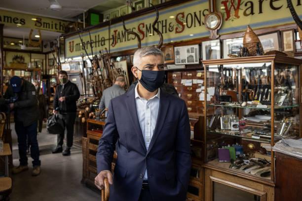 GBR: London Mayor Sadiq Khan Visits Businesses In Central London