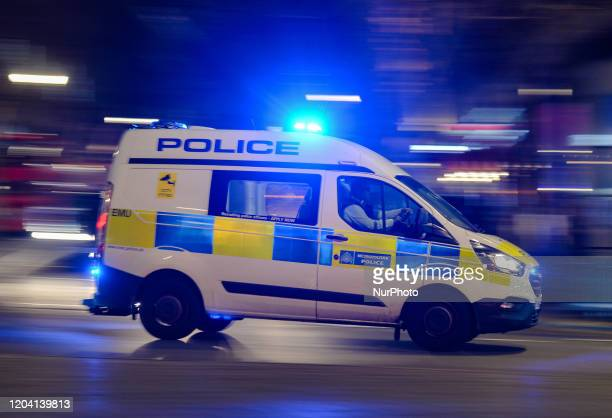 London Metropolitan Police car seen in Central London. On Saturday, 25 January 2020, in London, United Kingdom.