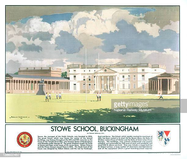 London Midland and Scottish Railways poster Stowe School Buckingham