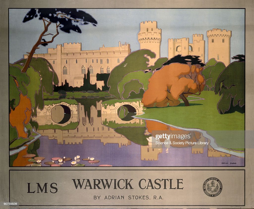 �Warwick Castle�, LMS poster, 1924. : News Photo