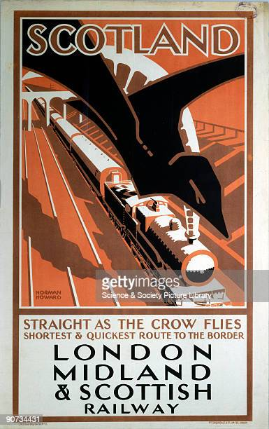 London Midland Scottish Railway poster Artwork by Norman Howard