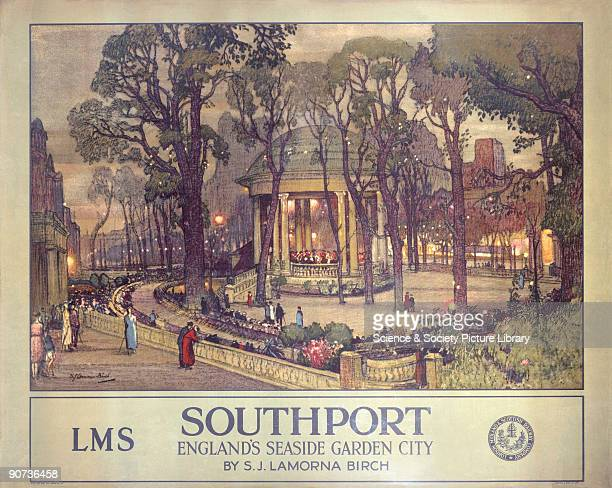 London Midland & Scottish Railway poster. Artwork by S J Lamorna Birch . Birch was born in Cheshire, and sought industrial design work at the...