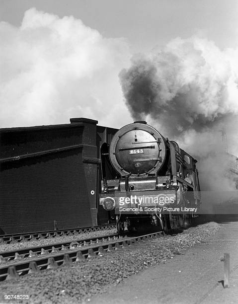 London Midland Scottish Railway steam locomotive No 6143 with a passenger express train bound for London's Euston Station Photograph by Bishop Eric...