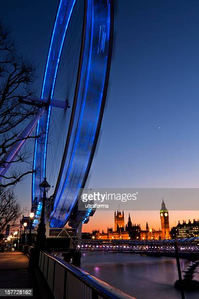 London - Millenium wheel at dusk