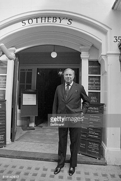 London: Mr. Alfred Taubman in front of Sothebys London salesroom September 19. Terms have been agreed where by Taubman UK Investments Inc. Will...
