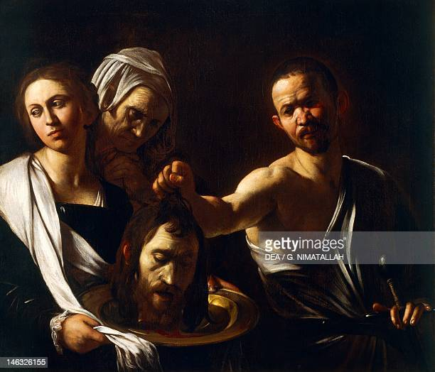 London National Gallery Salome receives the head of John the Baptist 160710 by Michelangelo Merisi da Caravaggio oil on canvas 915 x 1067 cm