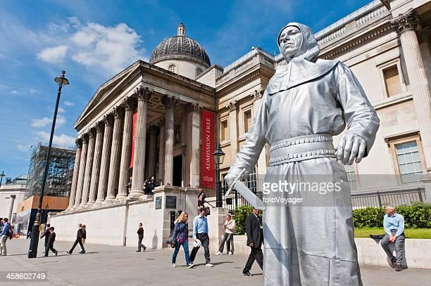 Londres, la National Gallery Artiste de rue Trafalgar Square