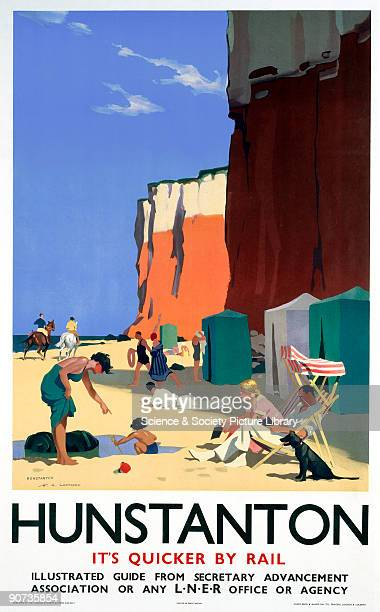 London North Eastern Railway poster advertising rail services to the Norfolk resort of Hunstanton Artwork by H G Gawthorn
