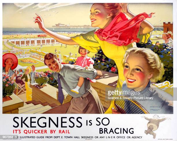 London North Eastern Railway poster advertsing rail services to the Lincolnshire resort of Skegness Artwork by Greenup