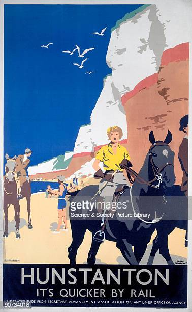London North Eastern Railway poster promoting rail travel to Hunstanton Norfolk Artwork by Frank Newbould