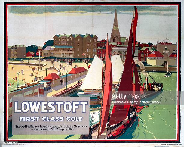 London North Eastern Railway poster promoting the Suffolk sea port of Lowestoft