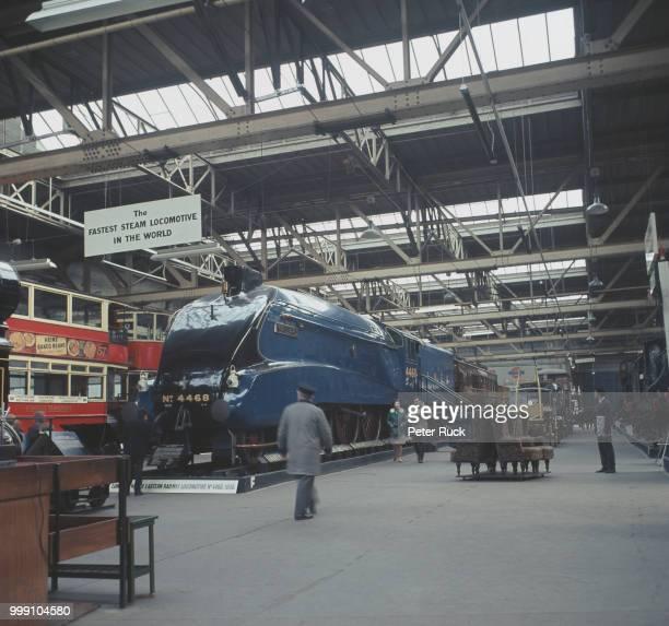 London North Eastern Railway steam locomotive 'Mallard' at The Museum of British Transport Clapham London UK April 1968