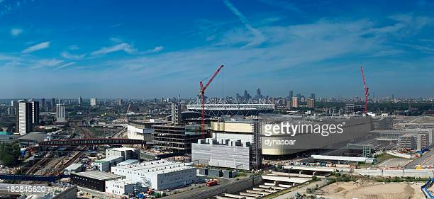 London Olympic Games urban regeneration site panorama.