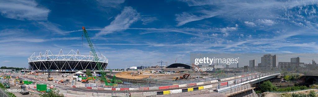 London Olympics urban regeneration panorama : Stock Photo