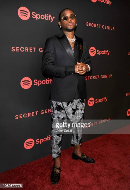 London On Da Track attends Spotify's Secret Genius Awards hosted by NE-YO at The Theatre at Ace Hotel on November 16, 2018 in Los Angeles, California.