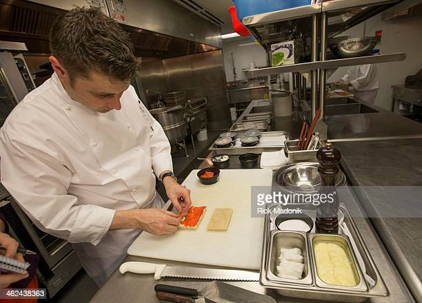 TORONTO JANUARY 10 London pastry chef Nicholas Patterson prepares some of the finger sandwiches which will be available at the High Tea event at the...